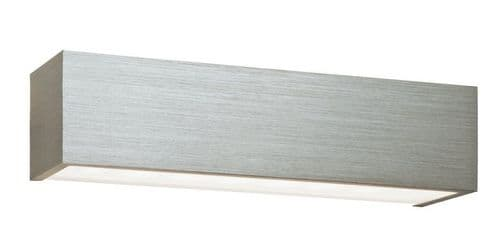 SAXBY 46395 SHALE Brushed Silver 8W LED Warm White Up & Down Wall Light