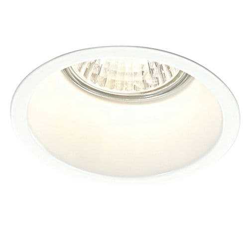 Saxby 48869 PEAKE 50W Recessed Dimmable Steel Gloss White Anti-Glare Downlight