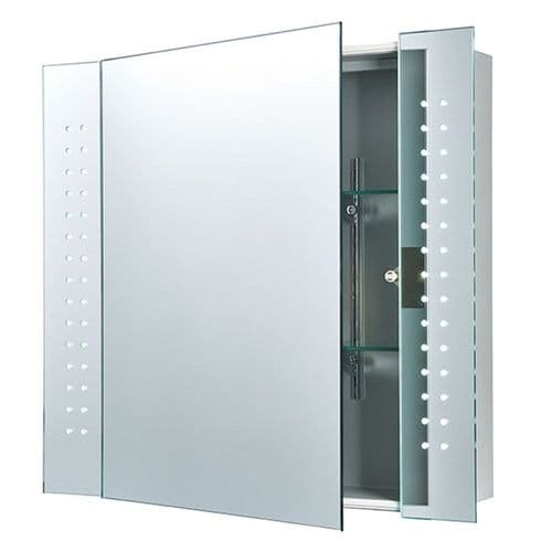 SAXBY 60894 REVELO 2W LED Mirror Bathroom Cabinet/Motion Sensor/Shaver Socket