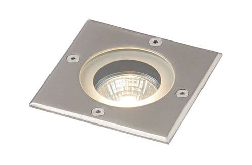 Saxby GH88042V Pillar IP65 50W Recessed Steel Dimmable Halogen Outdoor Uplight