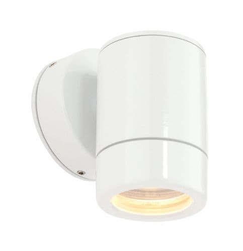 Saxby ST5009W ODYSSEY Single Gloss White outdoor down IP44 Wall Light