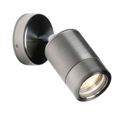 Saxby ST5010S ODYSSEY 35W IP65 Dimmable Stainless Steel Outdoor Spot Wall Light
