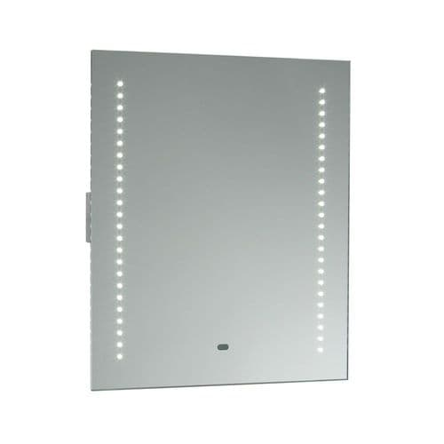 SPEGEL Mirrored Glass & Matt Silver Effect Bathroom Mirror Light Saxby 13759