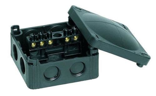 WISKA OUTDOOR JUNCTION BOX IP66 85 X 85 X 51mm BLACK