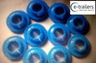 10 x GENUINE ROLLER BUNK GULLWING SNAP FIXING WASHERS FOR 22mm WOBBLE ROLLERS