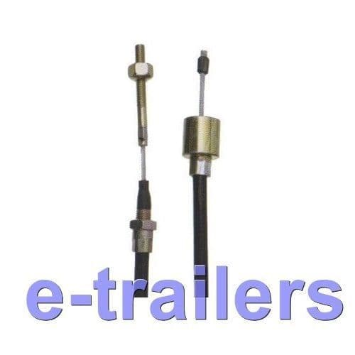 PAIR 1130mm ALKO TYPE LONG LIFE DETACHABLE TRAILER BRAKE CABLES 26mm Funnel
