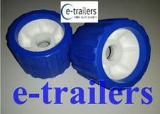 2 x BOAT TRAILER BLUE WOBBLE ROLLER 26mm bore NON MARKING SUPERB QUALITY
