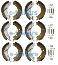 3 x AXLE SET TRAILER BRAKE SHOES 200x50 KNOTT TYPE for IFOR WILLIAMS  trailers & HB505