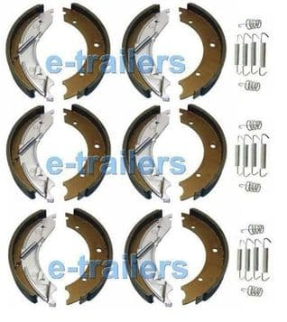 3 x AXLE SET TRAILER BRAKE SHOES 200x50 KNOTT TYPE for IFOR WILLIAMS  trailers