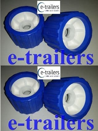 4 x BOAT TRAILER BLUE WOBBLE ROLLER 26mm bore NON MARKING SUPERB QUALITY
