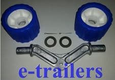 ALLOY WING BRACKET WITH 2 WOBBLE ROLLERS & 2  SPLIT PINS & 2 WASHERS