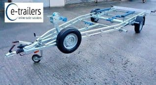 EXTREME 1500kg FIXED KEEL BUNK BOAT TRAILER - CORNISH CRABBER SHRIMPER 19 and PLYMOUTH PILOT