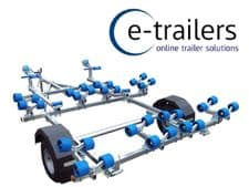 EXTREME 750kg DOUBLE JET SKI GALVANISED ROAD TRAILER - MADE IN THE UK