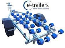 EXTREME 750kg galvanised Jetski / Boat Trailer with 28 Roller System 145x10 tyre