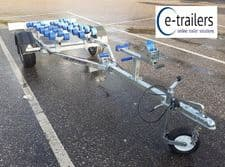 EXTREME 750kg Wide Wheel Jet ski Boat Trailer with 28 Roller fast launch recovery system