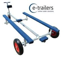 Extreme Trailers - SIB & Inflatable boat launching trolley for grass gravel beach or concrete launch