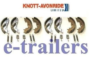 GENUINE KNOTT 200x50 TRAILER BRAKE SHOES 2 AXLE SET - FITS Ifor Williams P000320