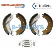 "GENUINE KNOTT TRAILER BRAKE SHOE KIT 250x40 IFOR WILLIAMS BRIAN JAMES 10"" DRUM"