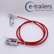 IFOR WILLIAMS TRAILER CARAVAN BREAKAWAY BRAKE SAFETY CABLE WITH CLEVIS PIN (1)