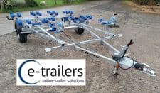 IN STOCK NOW -EXTREME 1300kg DOUBLE JET SKI GALVANISED BRAKED ROAD TRAILER - MADE IN THE UK - SUPERB