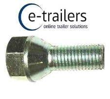 M12 TRAILER WHEEL BOLTS 1.5 CONICAL REPLACES F1830ZPK IFOR WILLIAMS 19mm HEAD
