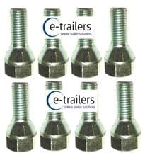 M12 TRAILER WHEEL BOLTS 1.5 CONICAL REPLACES F1830ZPK IFOR WILLIAMS 19mm HEAD x8