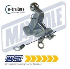 Maypole MP84 3500kg Heavy Duty Dual 50mm Tow Ball & 25mm Hitch Pin - E11 Rated