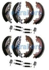 TRAILER BRAKE SHOES 160x35 KNOTT TYPE ECER90 IFOR WILLIAMS BRIAN JAMES X2 SETS