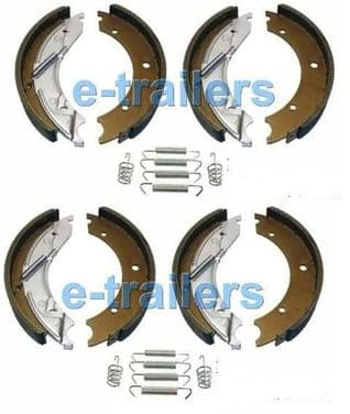 TRAILER BRAKE SHOES 250 x 40 FITS KNOTT IFOR WILLIAMS BRIAN JAMES 10
