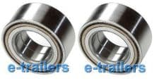 TRAILER WHEEL BEARING 42x76x39 jrm4249- FOR IFOR WILLIAMS WITH GREY DUST CAP x 2