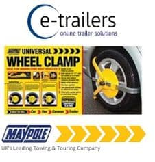 "UK MAYPOLE WHEEL CLAMP - CAR TRAILER CARAVAN WHEELS 13-17"" MP9065"