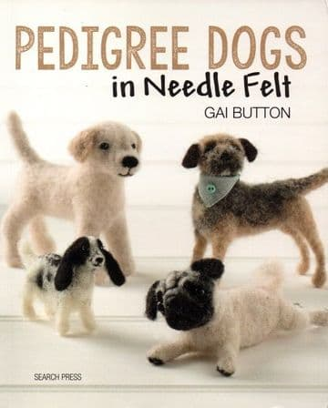 Pedigree Dogs in Needle Felt - Gai Button