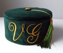 Green Velvet Personalised Monogrammed Smoking Cap