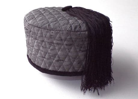 Quilted Silk Smoking Cap