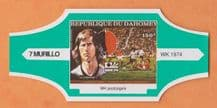 1974 World Cup Cigar Band West Germany Gerd Muller (Green)