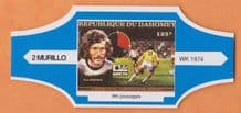 1974 World Cup Cigar Band West Germany Paul Breitner (Blue)