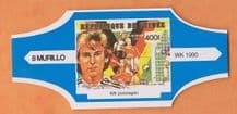 1990 World Cup Cigar Band West Germany Jurgen Klinsmann (Blue)