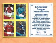 Arsenal Gilberto Manchester City Distin Charlton Athletic Jensen Birmingham City Savage (UB)