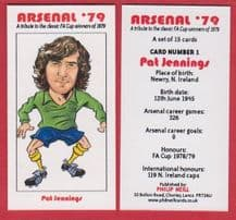 Arsenal Pat Jennings Northern Ireland (BR) 1