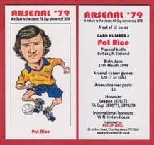 Arsenal Pat Rice Northern Ireland 2 (BR)