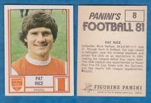 Arsenal Pat Rice Northern Ireland 8