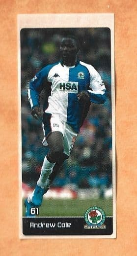 Blackburn Rovers Andy Cole 61