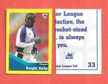 Blackburn Rovers Dwight Yorke Trinidad & Tobago 33 UBR (D)