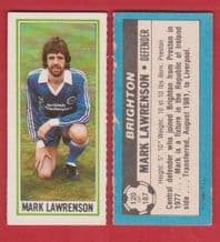 Brighton Hove Albion Mark Lawrenson 120