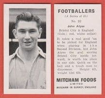 Bristol City John Atyeo England 22 (mm)