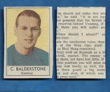 Carlisle United Chris Balderstone 1970