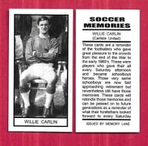 Carlisle United Willie Carlin (SMP)