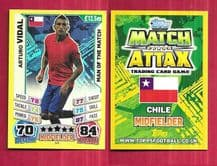 Chile Arturo Vidal Juventus 245 Man of the Match (14AS)