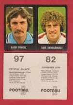 Coventry City Barry Powell & Crystal Palace Dave Swindlehurst