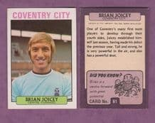 Coventry City Brian Joicey 61
